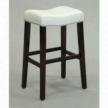"ACME Lewis Counter Height Stool (Set-2) - 96291 - White PU & Espresso - 26"" Seat Height"