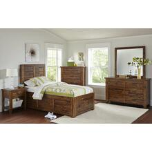 Sonoma Creek Twin Footboard With Drawer and Slats