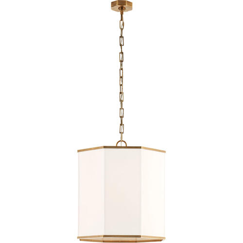 AERIN Niles2 4 Light 18 inch Hand-Rubbed Antique Brass Hanging Shade Ceiling Light