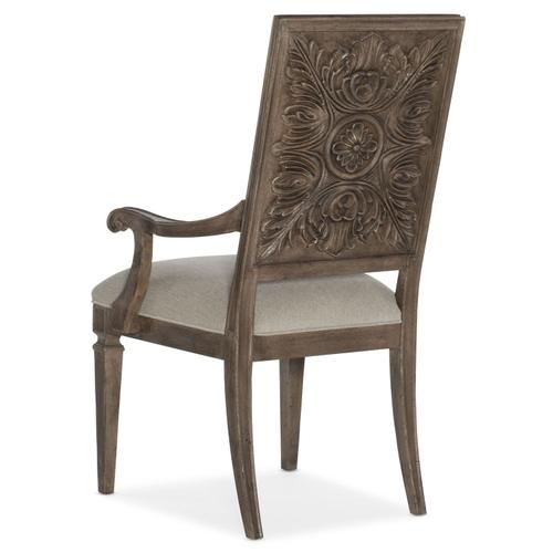 Dining Room Woodlands Carved Back Arm Chair - 2 per carton/price ea