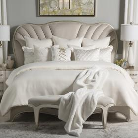 9pc Queen Comforter Set Ivory