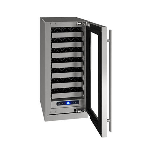 "Hwc515 15"" Wine Refrigerator With Stainless Frame Finish and Left-hand Hinge Door Swing (115 V/60 Hz Volts /60 Hz Hz)"
