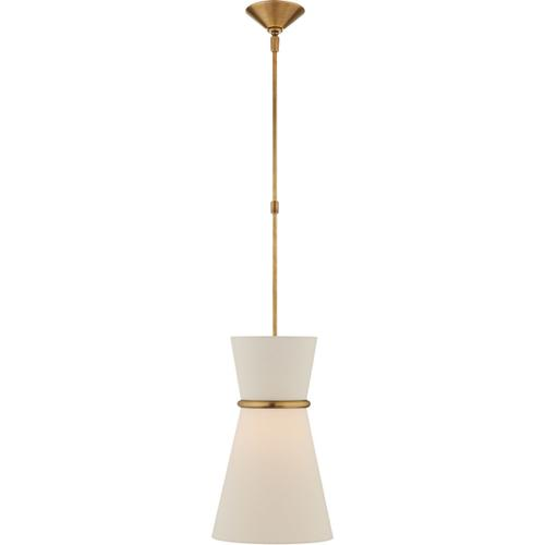 AERIN Clarkson 2 Light 10 inch Hand-Rubbed Antique Brass Single Pendant Ceiling Light, Small