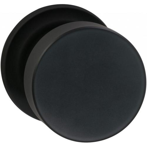 Product Image - Interior Modern Knob Latchset with Traditional Round Rose in (US10B Black, Oil-Rubbed, Lacquered)