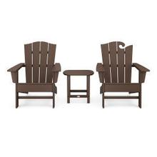 View Product - Wave Collection 3-Piece Set in Mahogany