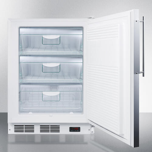 Commercial ADA Compliant Built-in Medical All-freezer Capable of -25 C Operation, With Stainless Steel Door Frame That Accepts Custom Panels