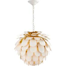 View Product - E. F. Chapman Cynara 1 Light 29 inch Plaster White Chandelier Ceiling Light, Large