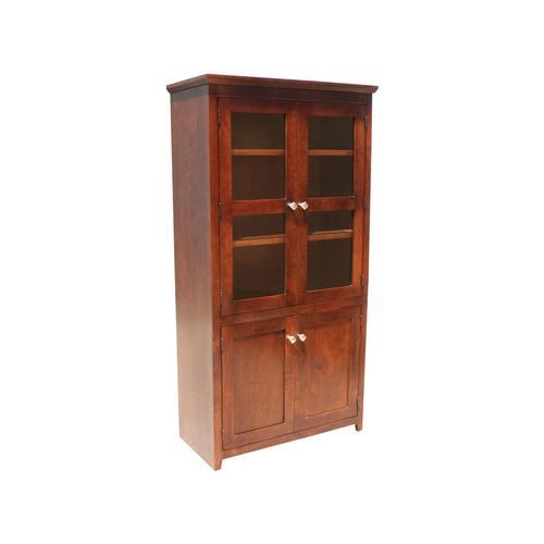 """Shaker Oak 36"""" 4-Door Bookcase"""