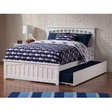 Mission Full Bed with Matching Foot Board with Urban Trundle Bed in White