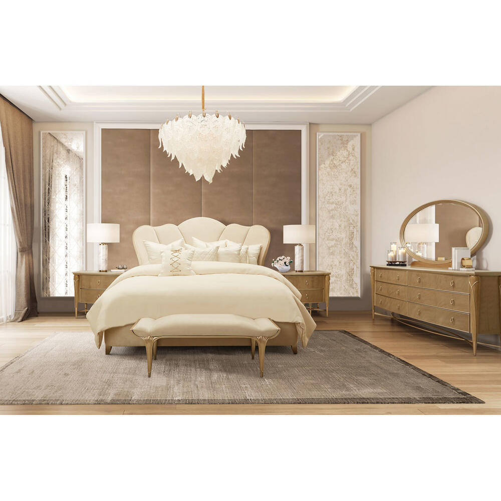 Cal King Channel-tufted Upholstered Bed (3 Pc)