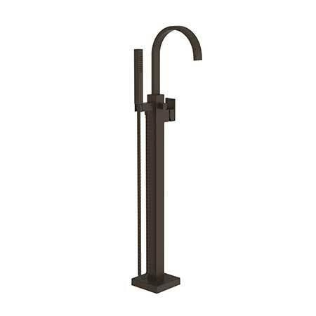 Weathered Copper - Living Exposed Tub and Hand Shower Set - Free Standing