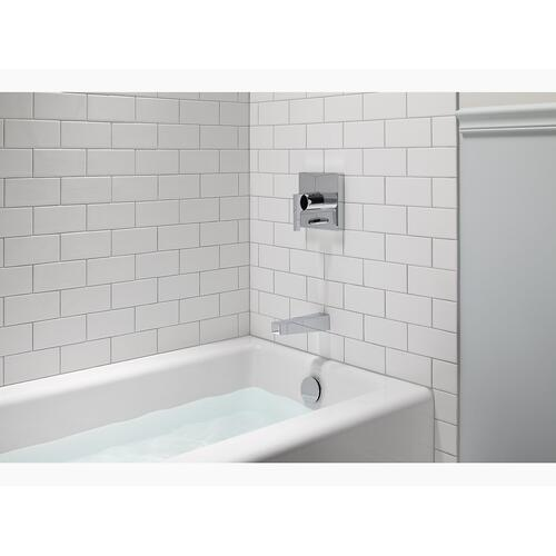 "White 60"" X 30"" Alcove Bath With Integral Apron and Right-hand Drain"