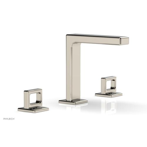 """MIX Widespread Faucet - Ring Handles 6-3/4"""" Height 290-03 - Polished Nickel"""