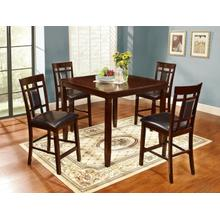 Vernon 5 Pc Square Counterheight Pub Set