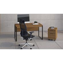 See Details - Linea 6227 Mobile File Pedestal in Natural Walnut