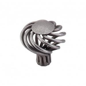 Round Large Twist Knob 1 1/2 Inch - Pewter
