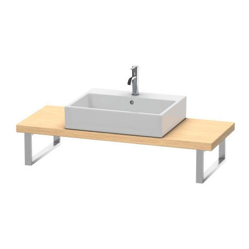 Duravit - Console For Above-counter Basin And Vanity Basin Compact, Brushed Oak (real Wood Veneer)