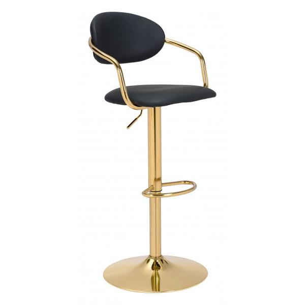 See Details - Gusto Bar Chair Black & Gold