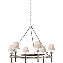 E. F. Chapman Classic 6 Light 33 inch Polished Nickel Chandelier Ceiling Light