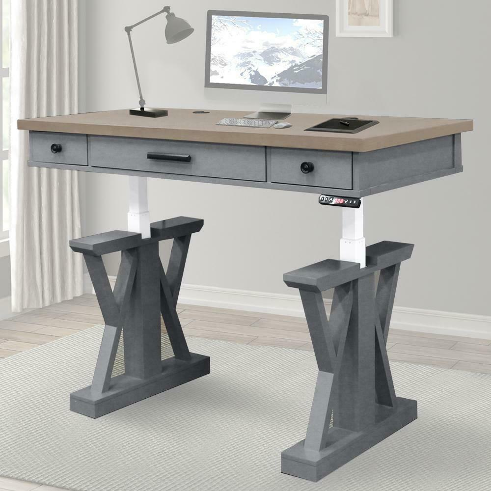 AMERICANA MODERN - DOVE 56 in. Lift Desk Top & Base Cover