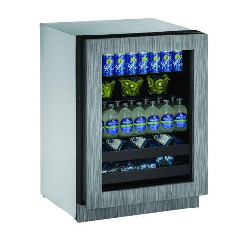 """U-Line - 2224bev 24"""" Beverage Center With Integrated Frame Finish and Field Reversible Door Swing (115 V/60 Hz Volts /60 Hz Hz)"""