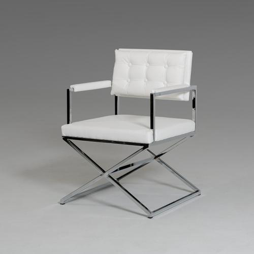 VIG Furniture - Modrest Cosme Modern White Leatherette Dining Armchair