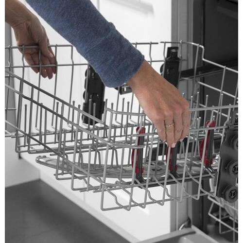GE® Front Control with Stainless Interior Door Dishwasher with Sanitize Cycle & Dry Boost