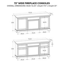 FP72A Fireplace Custom TV Console