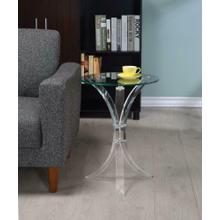 See Details - Contemporary Clear Accent Table