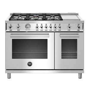 "Bertazzoni48"" Professional Series range - Gas Oven - 6 brass burners + griddle - LP version"
