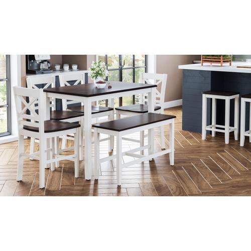 Jofran - Asbury Park 4 Pack - Table, (2) Stools, Bench