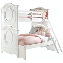 See Details - SweetHeart Twin/Full Bunk Bed with Ladder