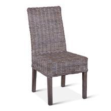 Kubu Rattan Dining Chair Whitewash