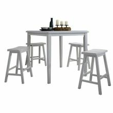 ACME Gaucho 5Pc Pack Counter Height Set - 07289 - White