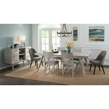 7 PIECE SET (TABLE AND 6 WOOD SIDE CHAIRS)