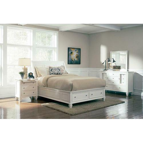 Sandy Beach White King Five-piece Bedroom Set