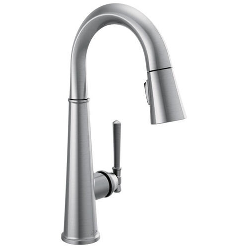 Lumicoat Arctic Stainless Single Handle Pull Down Bar/Prep Faucet