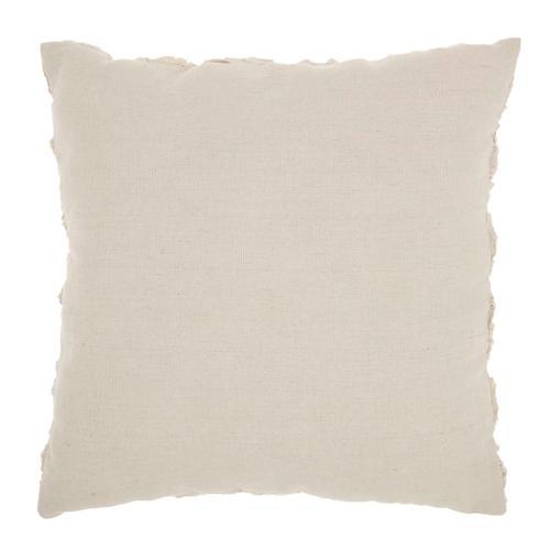 "Life Styles L0163 Beige 17"" X 17"" Throw Pillow"