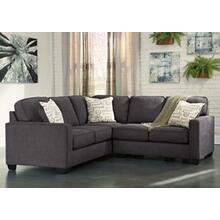 Alenya Sectional Charcoal Left