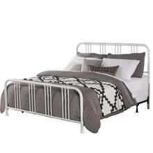 Dakota King Bed With Frame, Soft White