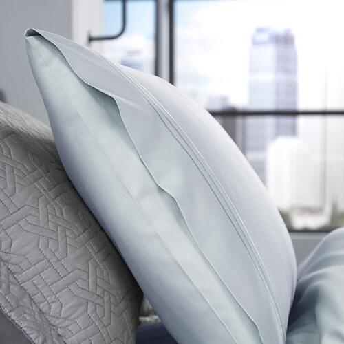 Supima® Cotton Pillowcase Set - Light Blue / Queen