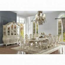 ACME Ragenardus Dining Table w/Double Pedestal - 61280 - Antique White