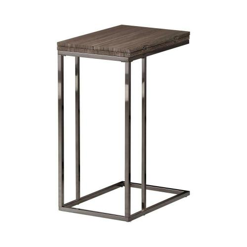 Product Image - Transitional Black Nickel Snack Table