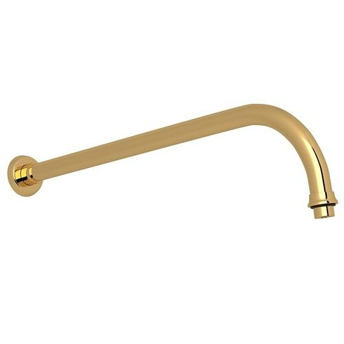 "English Gold Perrin & Rowe Holborn 15"" Wall Mount Shower Arm"