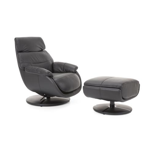 Black Chair with Ottoman