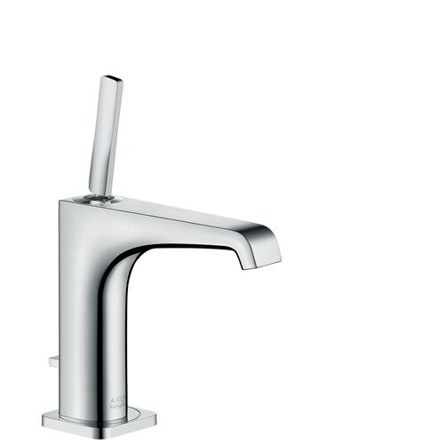 Chrome Single lever basin mixer 130 with pin handle and pop-up waste set