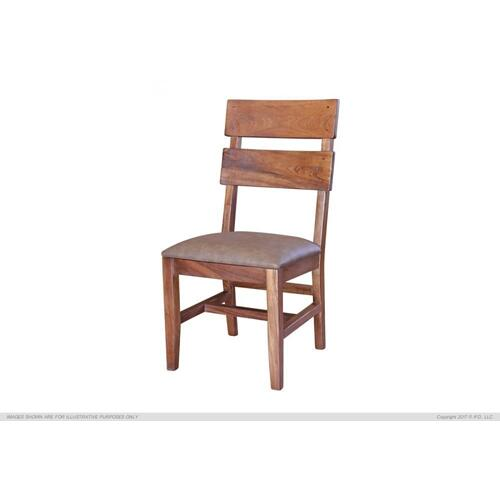 Chair w/ Solid Wood - Faux Leather Seat