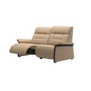 See Details - Stressless® Mary 2 seater with left motor arm wood