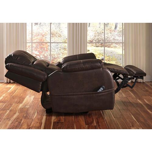 Barling Power Recliner/adj Headrest Walnut