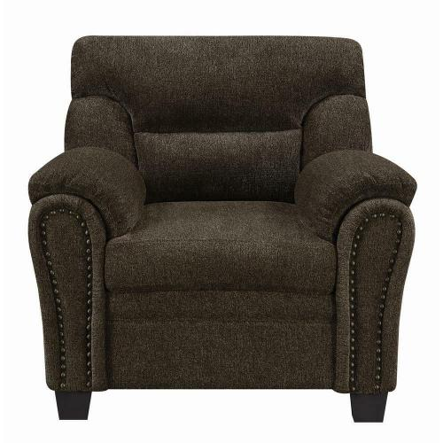 Clementine Casual Brown Chair